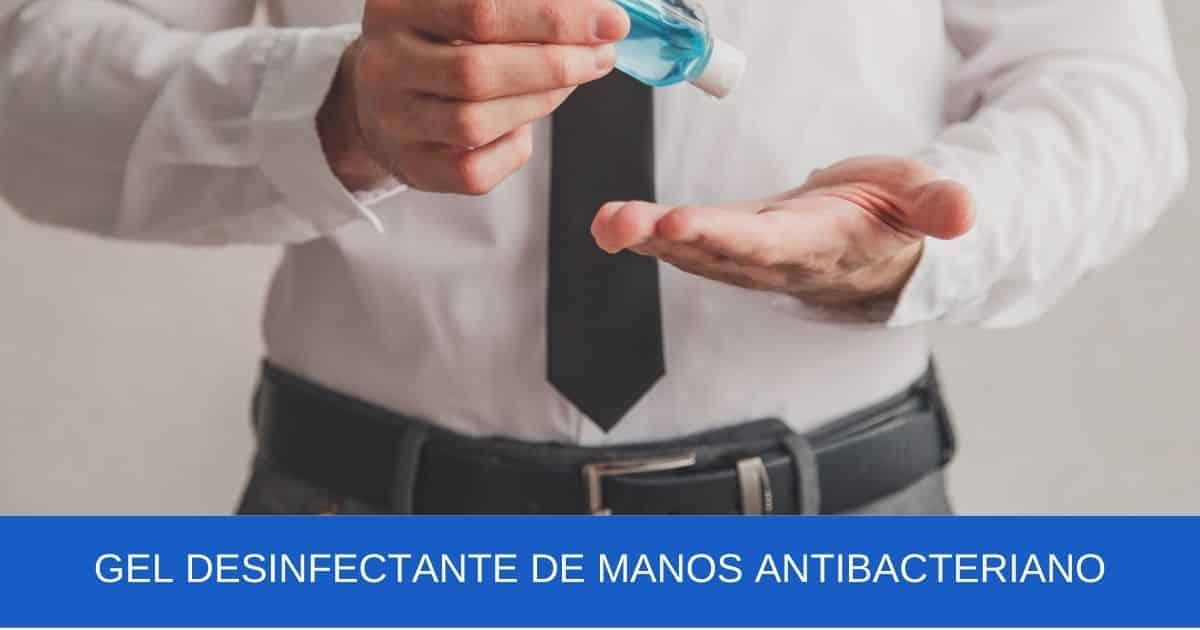 imagen banner Gel desinfectante de manos antibacteriano