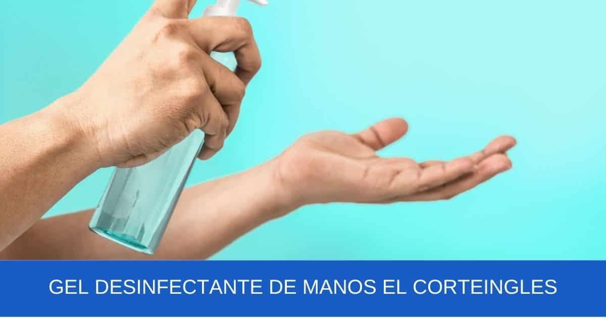 imagen banner Gel desinfectante de manos el corteingles