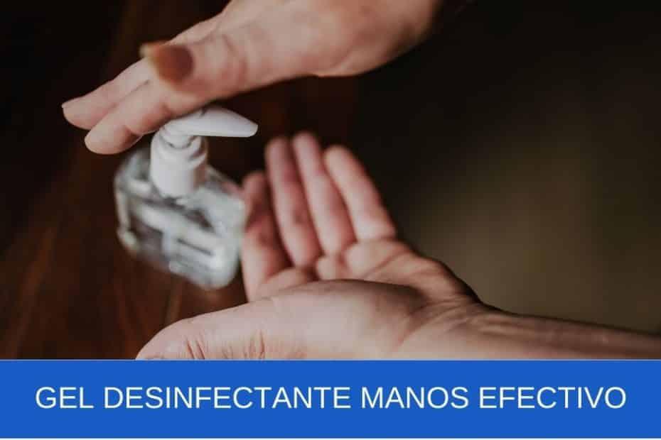 imagen banner Gel desinfectante manos efectivo