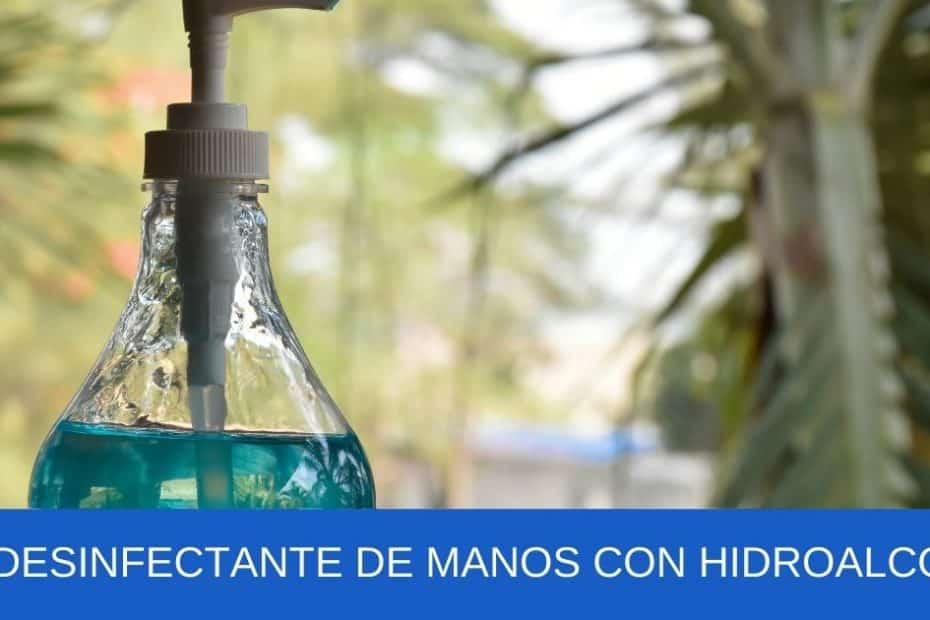 imagen banner Gel desinfectante de manos con hidroalcohol