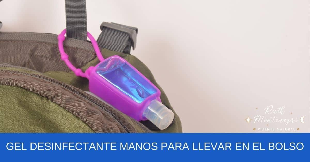 imagen banner Gel desinfectante manos para llevar en el bolso